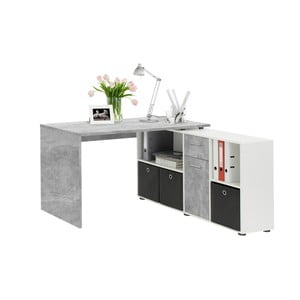 Sivý pracovný stôl 13Casa Jag