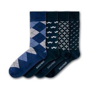 Sada 4 párov unisex ponožiek Black&Parker London Coleton Fishacre, veľkosť 37 - 43