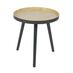 Odkladací stolík s antracitovosivou konštrukciou WOOOD Sasha