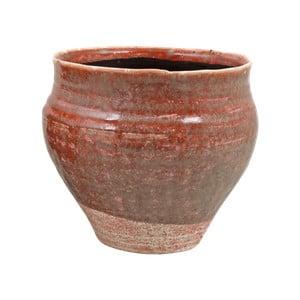 Ružový kvetináč z keramiky Strömshaga Nolhaga, Ø24 cm