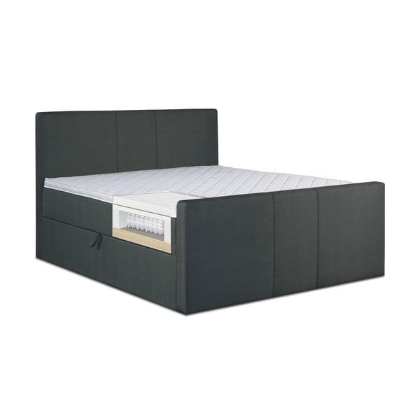 Čierna posteľ s matracom Gemega Amberbox, 140x200 cm