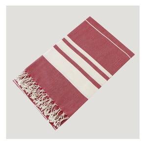 Hammam osuška Bath Style Red, 100 x 180 cm