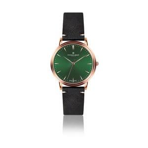 Pánske hodinky s čiernym remienkom z pravej kože Frederic Graff Rose Grunhorn Black Leather