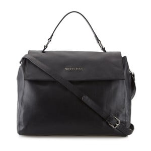 Kožená kabelka Elegance Weekend Black