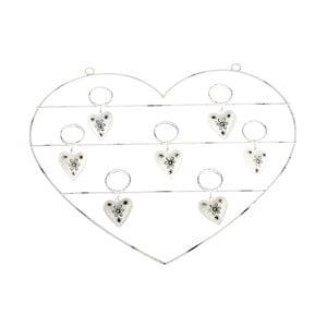 Nástenná kovová dekorácia s možnosťou zavesenia fotiek Dakls Heart