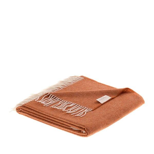 Vlnená prikrývka Liverpool 130x180 cm, svetlá čokoláda