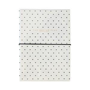Koženkový zápisník s blokom na úlohy a prepisovačkou Alice Scott by Portico Designs