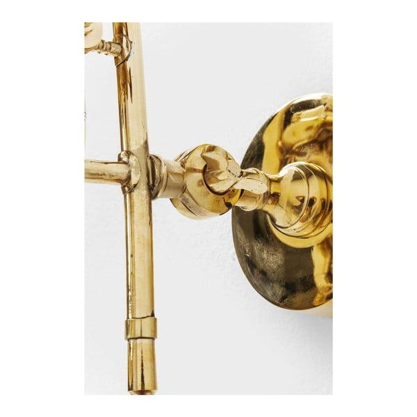 Nástenný vešiak v zlatej farbe Kare Design Trumpet Jazz