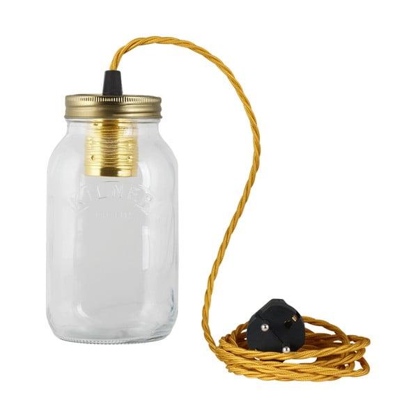 Svietidlo JamJar Lights, zlatý zakrútený kábel