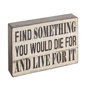 Dekoratívny nápis Find Something