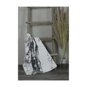 Bielo-sivá bavlnená kúpeľnová predložka My Home Plus Sensation, 51×76 cm