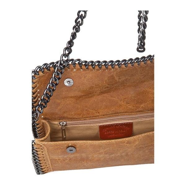 Kožená kabelka Markese 132 Cognac