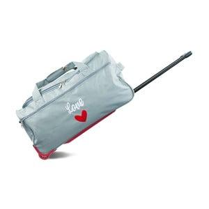 Sivá cestovná taška na kolieskach INFINITIF, dĺžka 70 cm