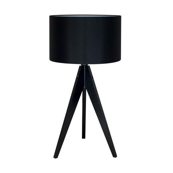 Čierna stolová lampa 4room  Artist, čierna lakovaná breza, Ø 33 cm
