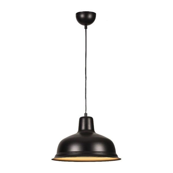 Čierne závesné svietidlo Bell