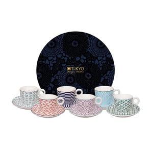Sada 6 hrnčekov s tanierikmi Tokyo Design Studio Geo Eclectic