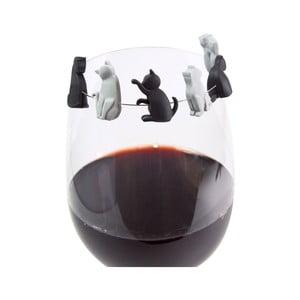 Rozlišovače na pohárik Gift Republic Meow