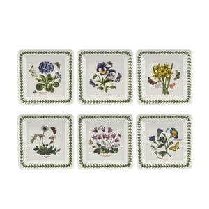 Sada 6 ks štvorcových tanierov z porcelánu Portmeirion