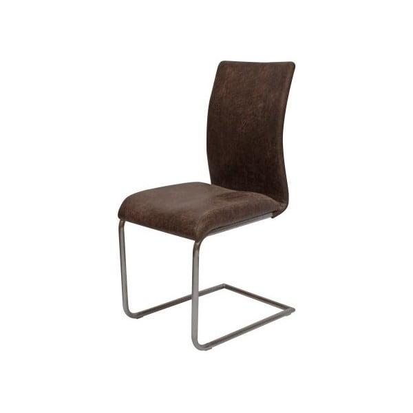Hnedá jedálenská stolička Canett Clipper