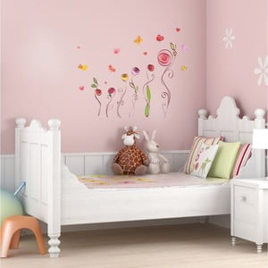 Sada samolepiek Ambiance Roses And Butterflies Decals