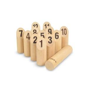 Záhradná hra pre celú rodinu Kubb s číslami