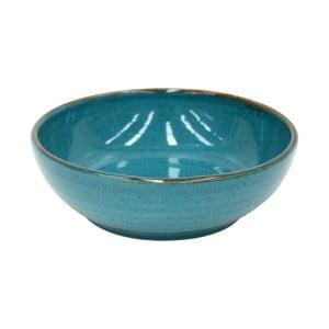 Modrý hlboký tanier z kameniny Casafina Sardegna, ⌀ 19 cm