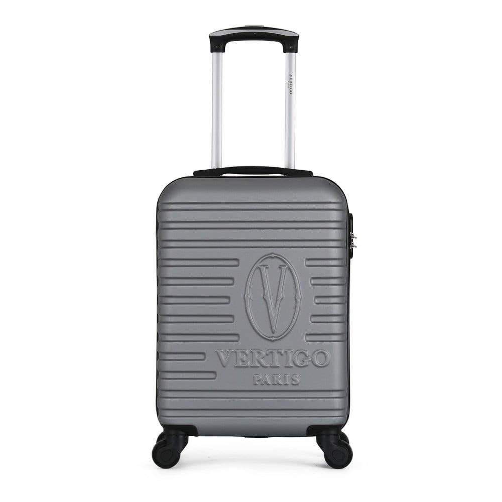 Sivý cestovný kufor na kolieskach VERTIGO Mureo Valise Cabine, 36 l