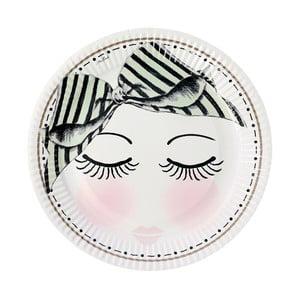 Sada papierových tanierov Eyes Dots, 8 ks