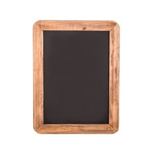 Čierna bridlicová tabuľa v drevenom ráme Antic Line, 28×20,5 cm