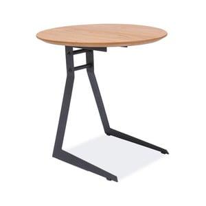 Odkladací stolík s konštrukciou z čierno lakovanej ocele Signal Vico, ⌀45cm