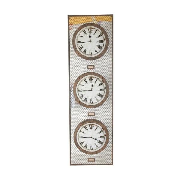 Trojité nástenné hodiny Antic Line Pendule