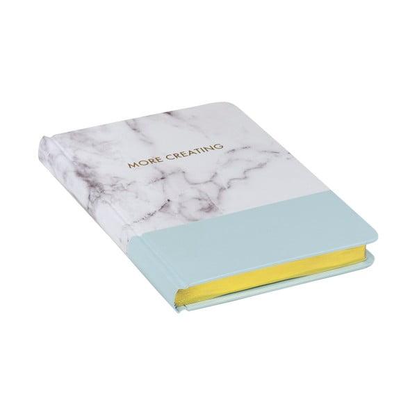 Zápisník Stockholm Marble, modrý