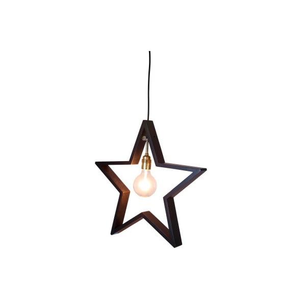 Závesná svietiaca hviezda Best Season Hanging Brown