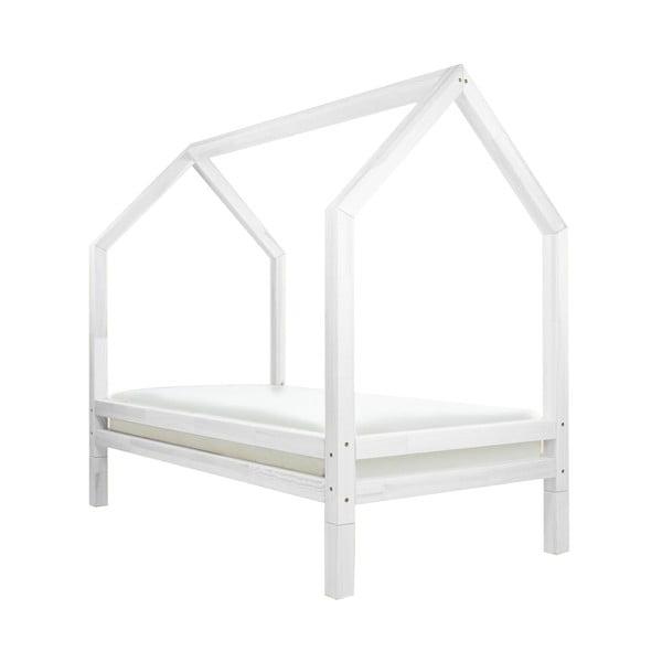 Biela detská posteľ z lakovaného smrekového dreva Benlemi Funny, 120 × 200 cm