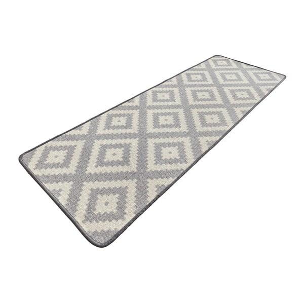 Sivý kuchynský behúň Hanse Home Loop Diamond, 67×180cm