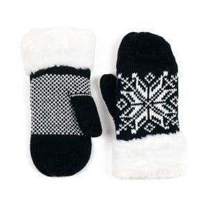 Čierne rukavice Lola so vzorom