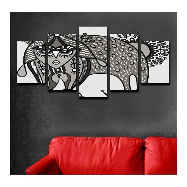 Viacdielny obraz Black&White Cat