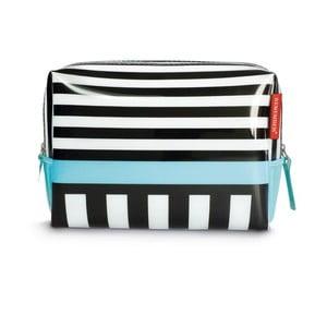 Kozmetická taška Remember Black Stripes, veľká