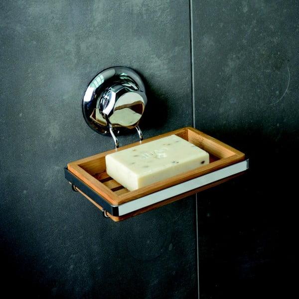 Bambusová nástenná miska na mydlo Compactor Spa