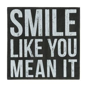 Nástenná ceduľa Smile