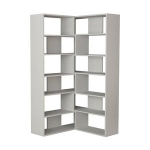 Biela rohová knižnica Molly N 4 White