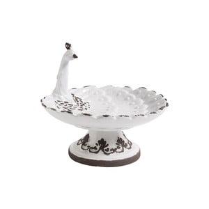 Biely keramický podnos Nordal Bird