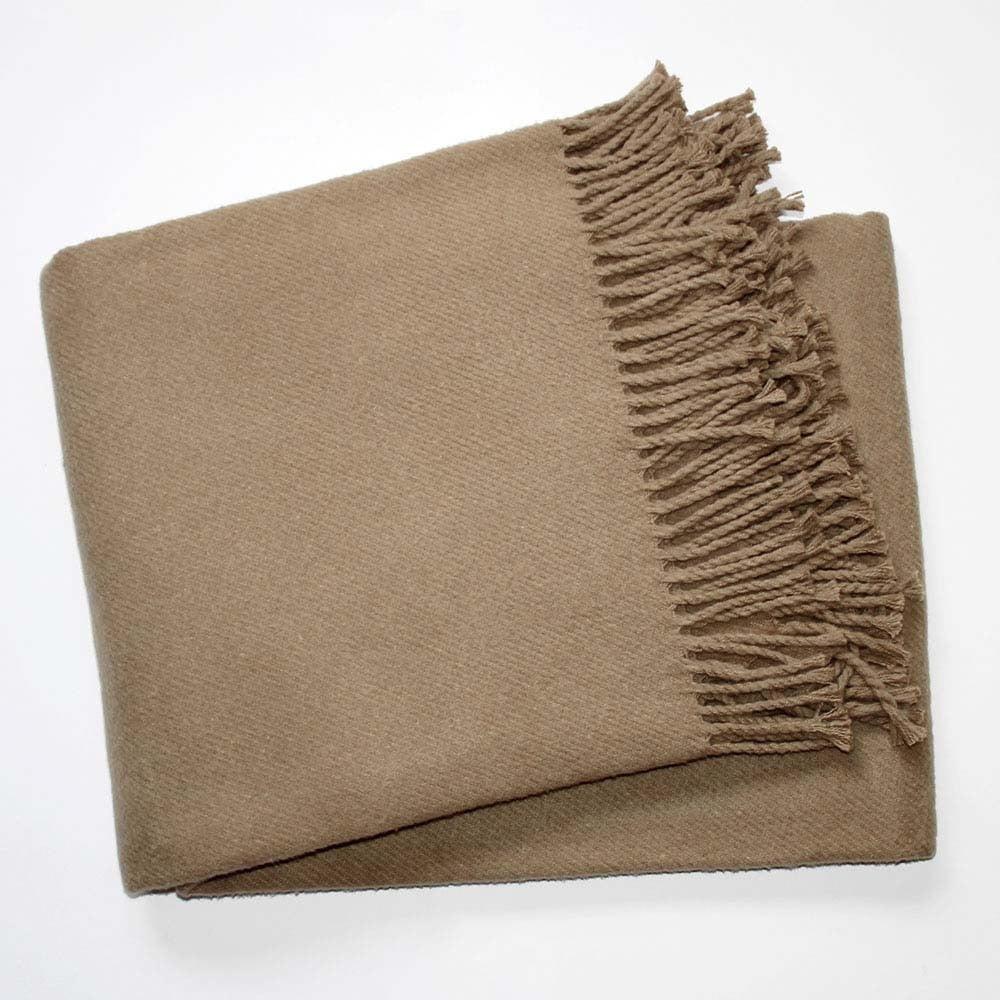 Hnedá deka s podielom bavlny Euromant Basics, 140 x 180 cm