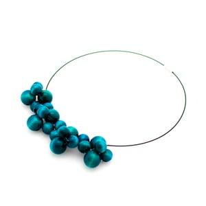 Tyrkysový drevený náhrdelník ko–ra–leBubbles