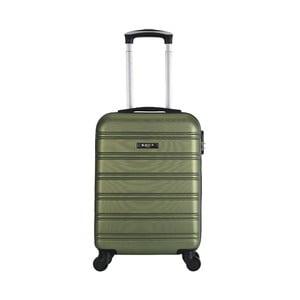 Tmavozelený cestovný kufor na kolieskách BlueStar Bilbao, 35 l