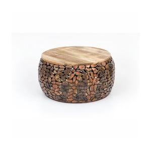 Konferenčný stolík s drevenou doskou WOOX LIVING Caramel, ⌀ 66 cm