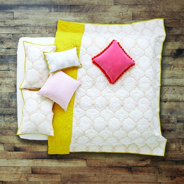 Prikrývka na posteľ Jali Yellow, 230x240 cm