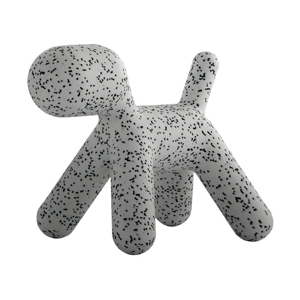 Sivo-čierna detská stolička v tvare psa Magis Puppy, výška 45 cm