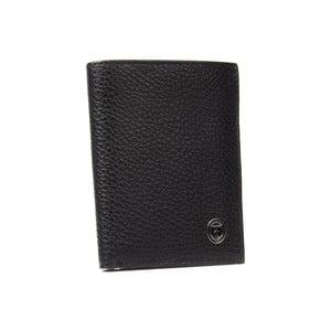 Čierna pánska kožená peňaženka Trussardi New Man, 12,5 × 9,5 cm
