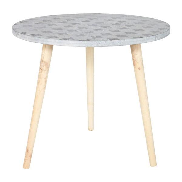 Odkladací stolík Denn, sivý